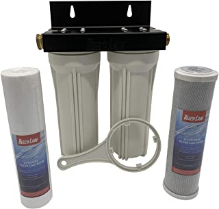 Beech Lane External RV Dual Water Filter System, Leak-Free Brass Fittings, Mounting Bracket and Two Filters Included, Stur...