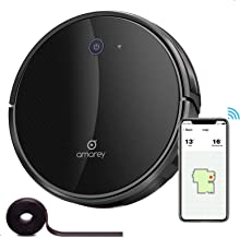 amarey Robot Vacuum, Wi-Fi Robotic Cleaner with Smart Mapping, Max 2500Pa, Tangle-Free Brush, Self Charging, Works with Al...