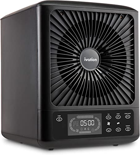 high quality Ivation 5-in-1 HEPA UV Air Purifier & Ozone Generator W/Digital outlet online sale Display Timer and Remote, Ionizer, UV Sterilizer & Deodorizer for Up to 3,000 lowest Sq/Ft online
