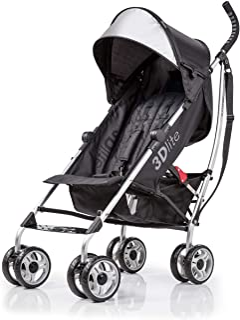 Summer Infant 3Dlite Black Convenience Stroller (with Silver Frame)