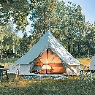 4M Bell Tent, Vattentätt Dubbla Lager Camping Indiskt Tipi Tält, Barn Tält Camping Tält Glamping Tält Trädgårdstält För Al...