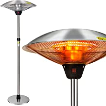 FORUP Electric Patio Heater, Space Heater for Patio, Freestanding Portable Outdoor Patio Heater, Umbrella-Shaped Adjustabl...