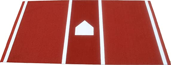 All Turf Mats PBC72144 6' x 12' Clay Baseball/Softball Hitting Stance Mat with..