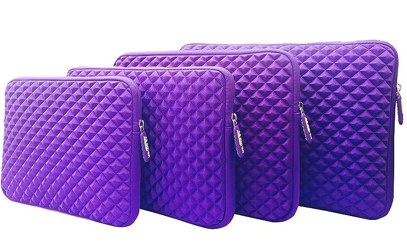 AZ-Cover 12.5-Inch Simplicity Stylish Diamond Foam Shock-Resistant Neoprene Sleeve (Purple) For Toshiba Radius Flagship Premium High Performance 12.5