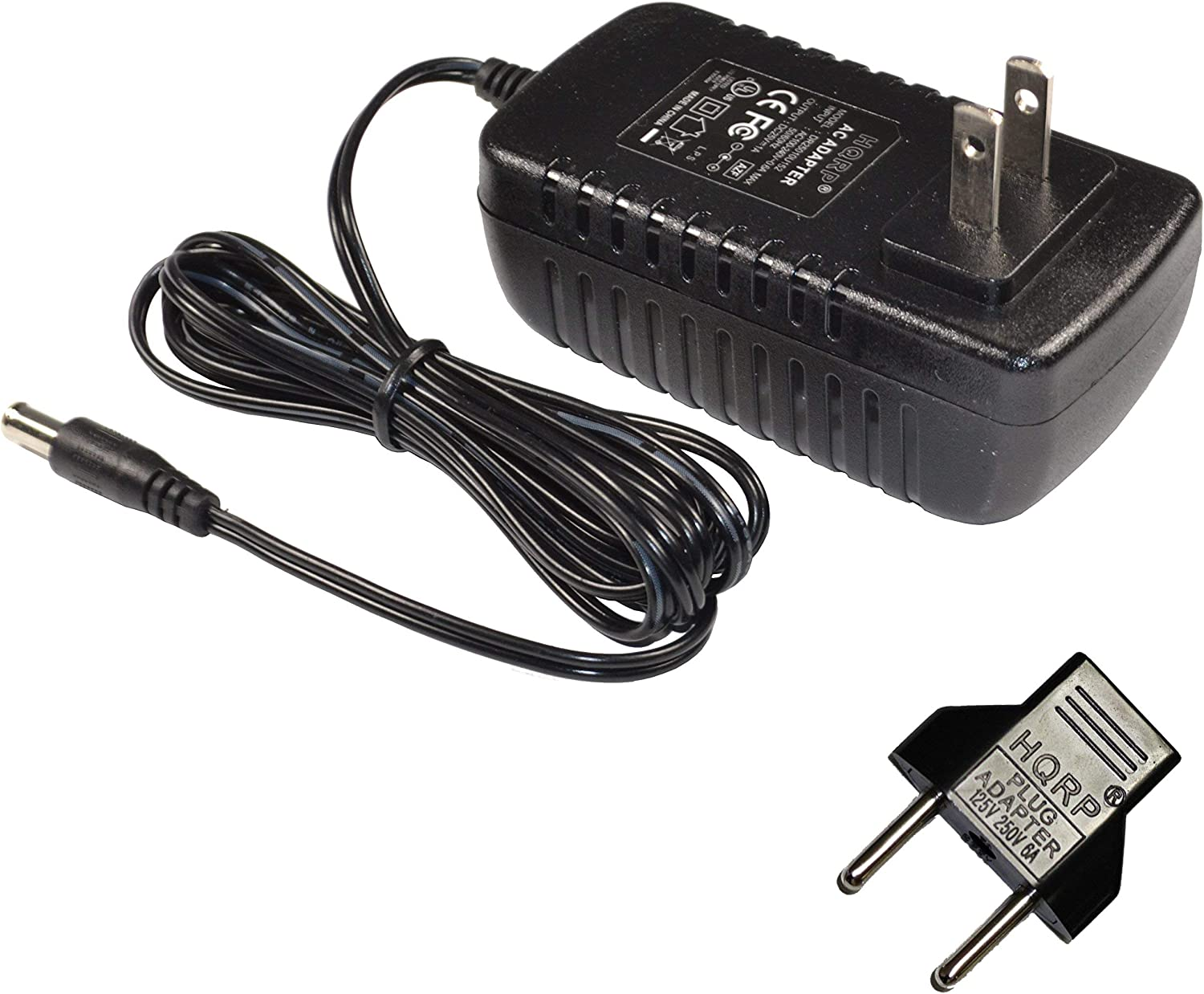 HQRP [UL Listed] 25V Battery Charger Compatible with Bissell 1604266, 1312 Series, 13122, 13129, 1312R, 13121, 13128 18V ION Cordless Vac Vacuum AC Adapter Power Supply SSA-250100US