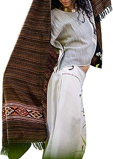 AJJAYA JHANA Meditación Oración Mantón Manta Acogedor Bronce y negro Cachemira Lana Yak Tibetano Lahsa Invierno Tribal Cel...
