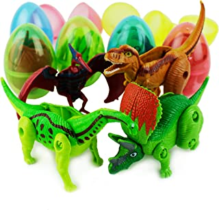 Boley 8-Pack Dino Mutants - Dino Egg Transforming Dinosaur Toy - Great as Dinosaur