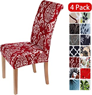 smiry Stretch Printed Dining Chair Covers, Spandex...