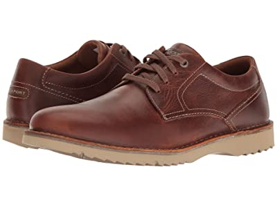 Rockport Cabot Plain Toe (Brown Leather) Men