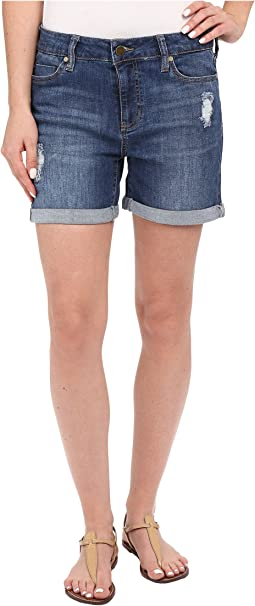 Vickie Shorts w/ Destruction in Montauk Mid Blue