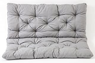 comprar comparacion Ambientehome 90266 - Funda de banco Hanko de 2 asientos y cojín de respaldo, Color Gris claro, aprox.120 x 98 x 8 cm