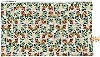 Kess InHouse Alison Coxon Butterfly Blue Green Black Round Beach Towel Blanket