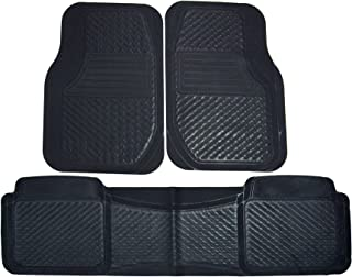 orealauto Car Floor Liners Mats for Audi Q5 2017 2018 2019 Vehicle Front and Rear Heavy Duty Rubber Black Red Edge Carpet Set Custom Fit-All Weather Guard Odorless