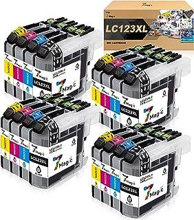Repuesto m/ás grande para cartuchos de tinta Brother LC123 para usar con DCP-J132W DCP-J152W DCP-J4110DW MFC-J470DW MFC-J4610DW MFC-J6720DW MFC-J6920DW paquete de 10 negros .