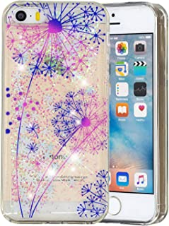 0ebfe03d15a HopMore Compatible para Funda iPhone 5S / SE / 5 Silicona 3D Glitter  Liquido Brillante Purpurina