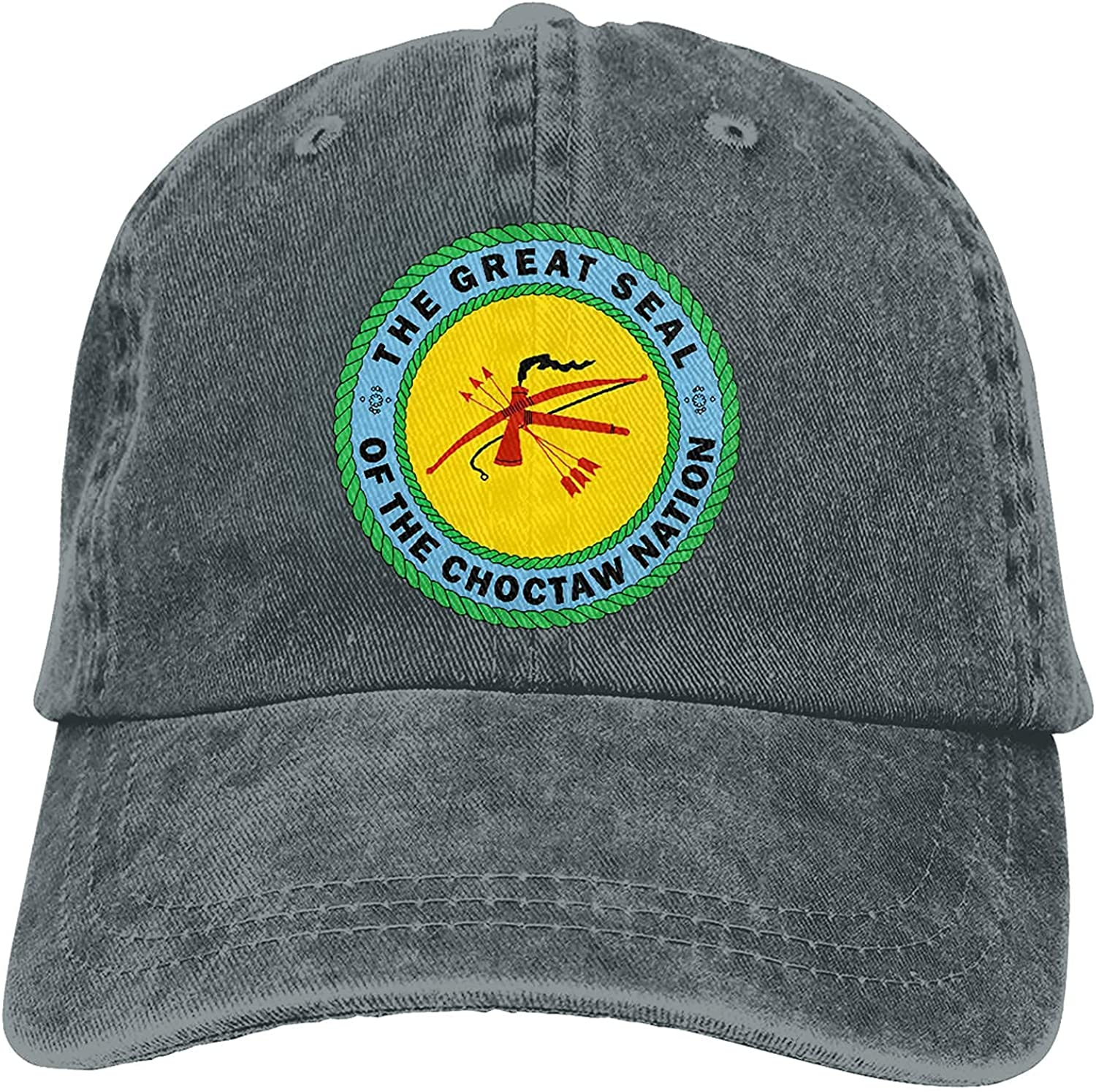BGWORZD Choctaw Nation Outdoor Men's Baseball Cap Sports and Leisure Adjustable Cowboy Hat Performance Cap Navy
