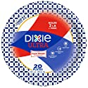 "Dixie Ultra Paper Plates, 10 1/16"", 20 count, Dinner Size Printed Disposable Plates"