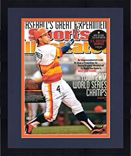 Framed George Springer Houston Astros 2017 MLB World Series Champions Autographed 16