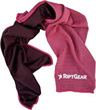 RiptGear Instant Cooling Towel - Ultra Thin Lightweight Design for Fitness and Exercise, Gym, Yoga, Sports, Pilates, Trave...