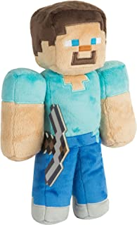 JINX Minecraft Steve Plush Stuffed Toy, Multi-Colored, 12