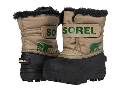 SOREL Kids Snow Commandertm (Toddler) (Khaki II) Kids Shoes