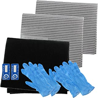 Spares2go Cooker Hood Carbon Grease Filter Complete Kit For Flavel Kitchen Extractor Fan Vent