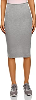 Ultra Women's Ribbed Elastic Pencil Skirt