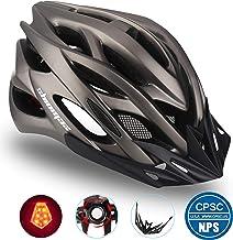 Shinamx Casco Bicicleta con Visera, Protección de Seguridad Ajustable Deporte Ligera para Montar en Bicicleta Casco de Bicicleta BMX Scooter Skate Mountain Road Hombres Mujeres Adultos