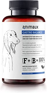 animaux – Gastro Balance for Dogs   Digestive Health Support and Probiotics   Brewer's Yeast, Psyllium Husks, Fennel   Helps to Relieve Diarrhea, Excess Winds, Irritable Bowel   40 Chewable Tablets