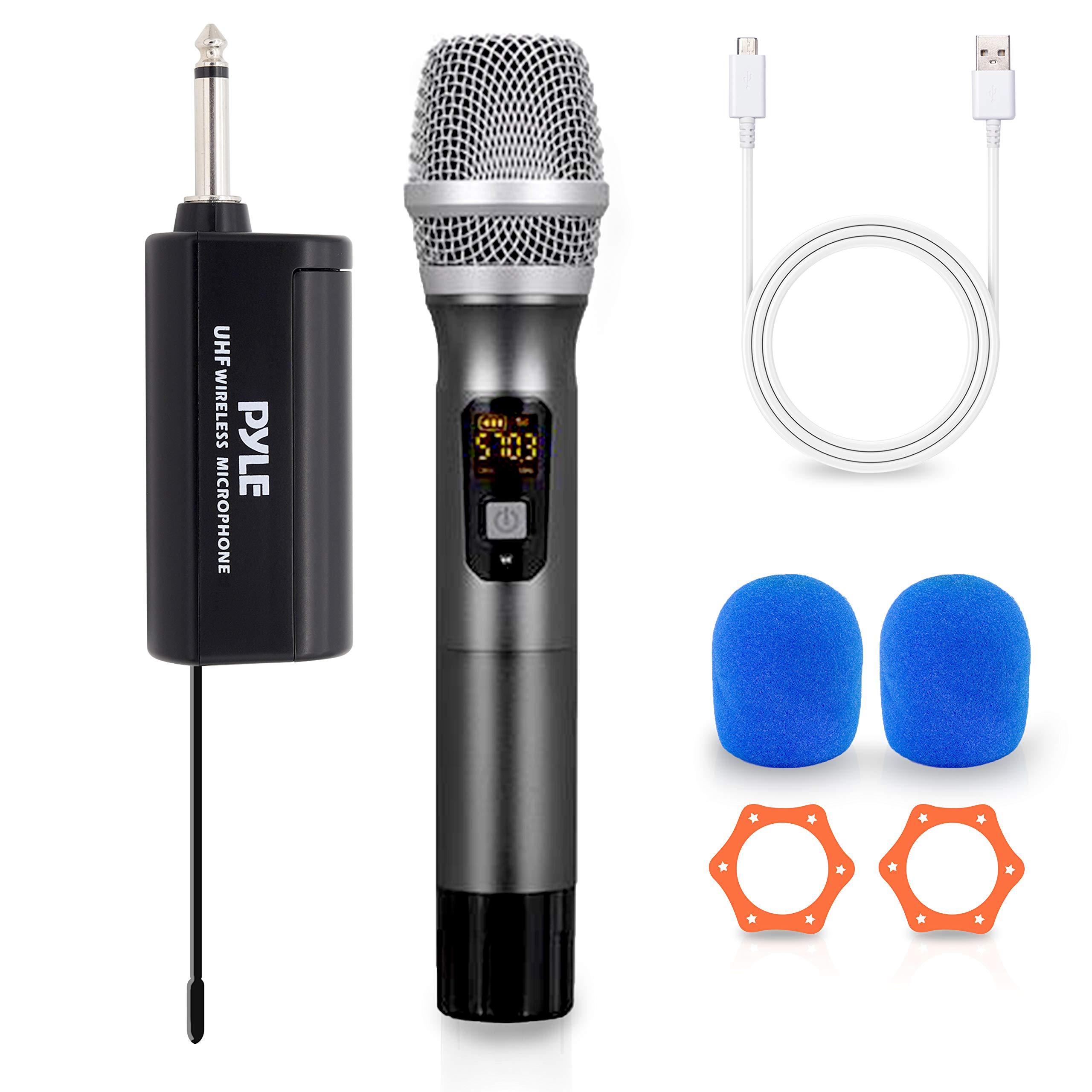 Microfono Pyle PDWMU103 UHF Wireless System - Handheld Mic &