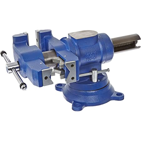 YOST Vises 750-DI Multi-Jaw Rotating Combination Bench & Pipe Vise with Swivel Base