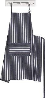 Now Designs Oversized Apron, Black Butcher Stripe