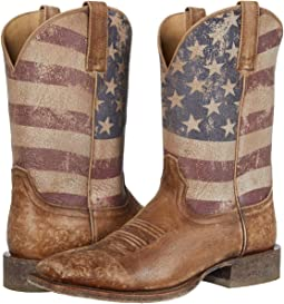 Naturally Distressed Brown/Distressed Flag