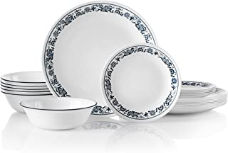 Corelle 18-Piece Service for 6, Chip Resistant, Old Town Blue Dinnerware Set