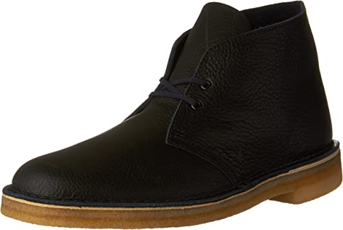 CLARKS Hommes's Desert démarrage Navy Tumbled Leather 9.5 D US