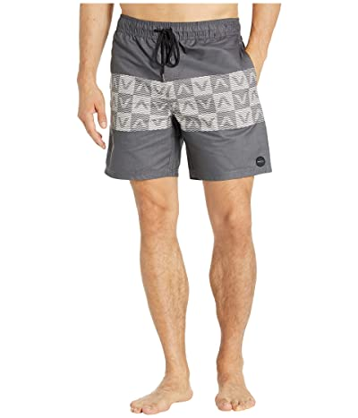 RVCA Out There Elastic Shorts 17 (Black) Men