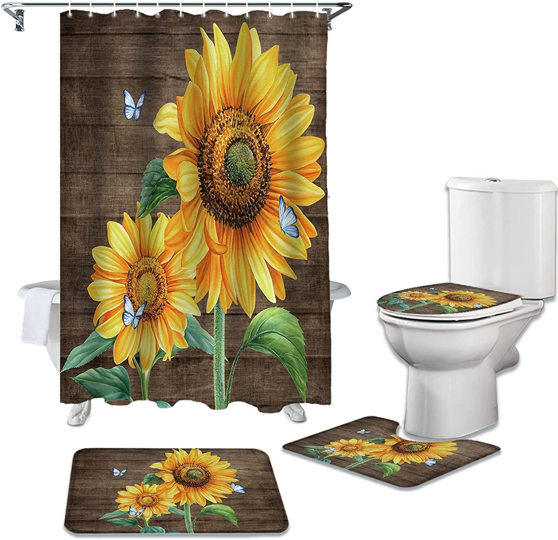 dodouna Farm Flower Sunflower Rapid rise Butterfly Shower Wood Bombing new work Curtai Grain