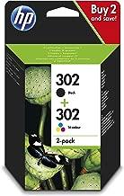 HP 302 Combo Pack X4D37AE Cartucce Originali per Stampanti a Getto di Inchiostro, Compatibili con DeskJet 1110, 2130, 3630, OfficeJet 3830 e 4650, Envy 4520, Nero e Tricromia