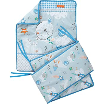 2pc Dimple Crib//Cradle Set Quilt /& Bumper Bedding Set Blue