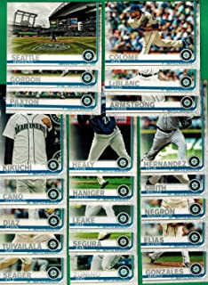 Seattle Mariners 2019 Topps Complete Mint Hand Collated 21 Card Team Set with Felix Hernandez and Marco Gonzales Plus