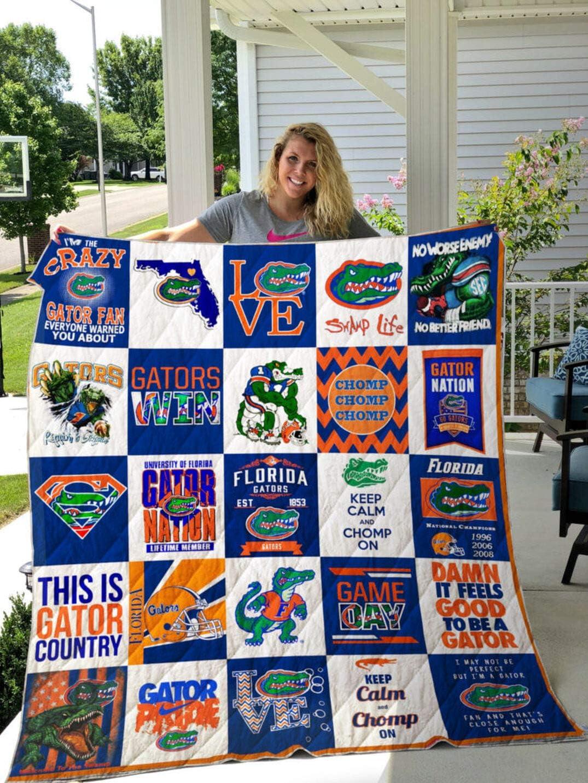 Florida Gators Quilt Blanket Queen Size Quilt Customized Gifts for Men Women Kids