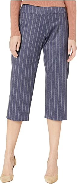 Pull-On Wide Crop Pants in Stretch Knit