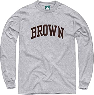 Cotton Long Sleeve T-Shirt, Heather Grey, with Classic Arch Logo