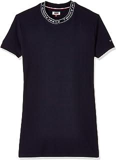 فستان بياقة تي جيه دبليو تحمل شعار العلامة التجارية للنساء من تومي جينز