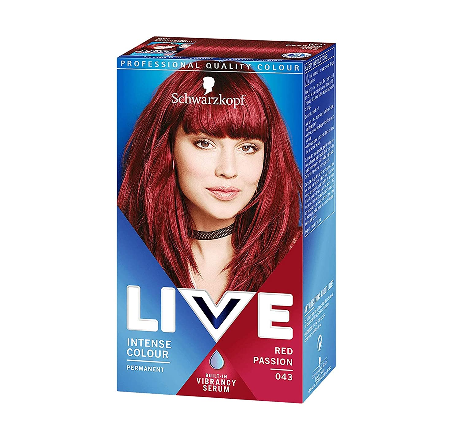 Schwarzkopf Live Intense Max 53% OFF half Permanent Hair Colour Red Passion Kit
