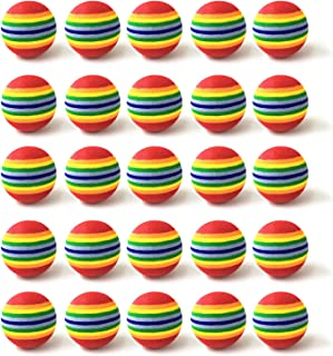 Fasmov 30 Pack Rainbow Foam Golf Training Balls Golf Ball Training Sports Balls Golf Foam Practice Balls Golf Accessories