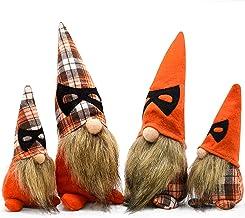 4Pcs Halloween Gnomes Plush Decorations,Handmade Swedish Tomte Decor,Halloween Home Table Elf Gnomes Ornaments