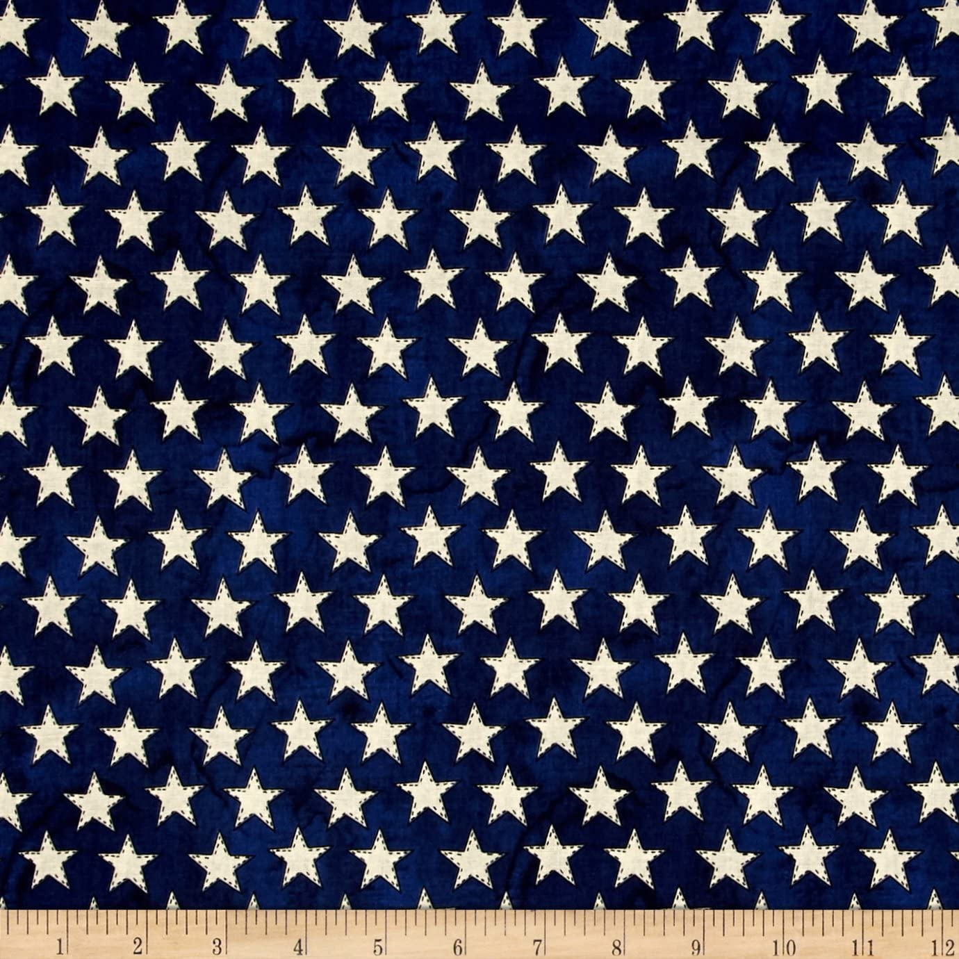 American Honor Stars Blue, Quilting Fabric by the Yard
