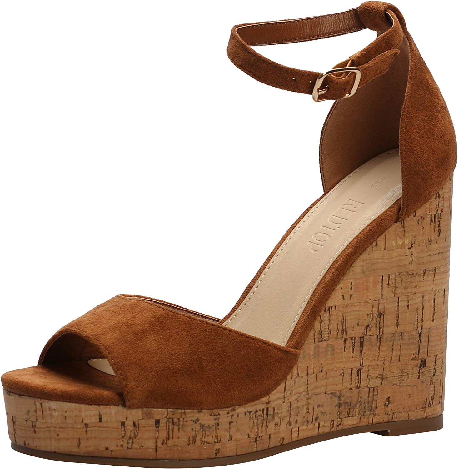 Max 61% OFF REDTOP Cheap mail order specialty store Women's Platform Sandals Wedge Toe Open Ankle Sanda Strap