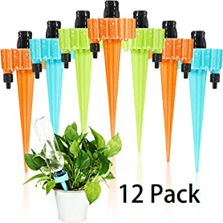 Mudder 12 Pieces Self Water Plants, Water Spikes for Plants, Self Watering Spikes, Plant Self Watering Devices, Plants Spikes, Plants Waterer Self Watering, Automatic Watering Spikes